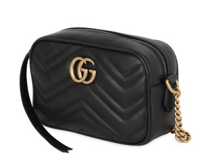 Gucci GG Marmont mini quilted-leather cross-body bag with receipt GENUINE