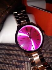CHERIE PARIS BIG PINK FACE, ROSE GOLD STRAP Ladies Watch