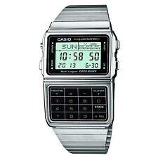 Casio Stainless Steel Retro Databank Calculator Digital Wrist Watch New