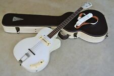 1950's Kay K-162 Pro Thin Twin Bass - Unusual White Finish - With Hardshell Case