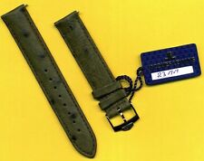 GENUINE PRE TAG HEUER STEEL BUCKLE TANG & GENUINE GREEN OSTRICH STRAP BAND 18mm