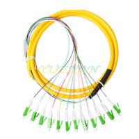 10pcs 12 Strand Fiber Optic Cable Pigtails 1.5m LC/APC Single Mode 9/125