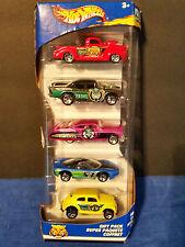 2002 Hot Wheels 5 Car Gift Pack - Robo Zoo,VW Bug, Pontiac,'57 Chevy, Ford Truck