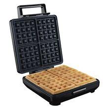 Electric Waffle Maker Belgian Nonstick Kitchen Breakfast Baker Cooker 4 Piece