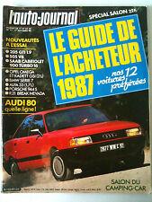 >L'AUTO-JOURNAL du 10/1986; Le guide de l'acheteur/ Salon Camping Car