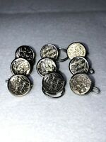 Vintage New York New Haven And Hartford Railroad Train Buttons Lot Of 9 Small