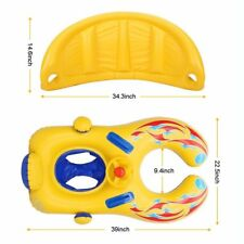 Mother and Baby Float Toy Safety Inflatable Seat Boat Toddler Swimming Ring with