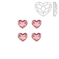 Swarovski 2808 Hotfix Heart Flat Backs Antique Pink 6mm Pack of 4 (K72/2)