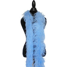Light Blue 4ply Ostrich Feather Boa Scarf Prom Halloween Costumes Dancing Decor