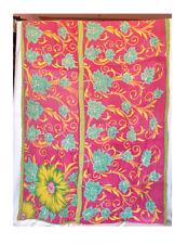 Indian Vintage Kantha Quilt Queen Reversible Handmade Cotton Bedspread Blanket