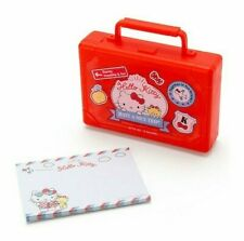 Sanrio Hello Kitty Travel Suitcase Memo Pad Stationery Container Card Case