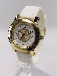 Ladies Juicy Couture Watch - Gold Tone - Jewel Accents - New Battery - Nice!