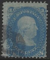 """US Stamps - Scott # 92 - 1c Franklin - """"F"""" Grill                         (L-530)"""