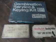 Vintage Kwikset Keying Kit Lot No 400 No 1420 Amp Combination Service Kit Look