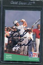 1991 Pro Set Golf Fred Funk #54 Signed Autograph