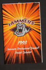 Jamestown Jammers--1998 Pocket Schedule--Tigers Affiliate