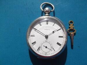 Coin Silver PS Bartlett Waltham Pocket Watch Circa 1880