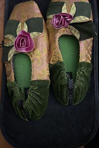 Goody Goody Bon Bons Silk Slippers NWT
