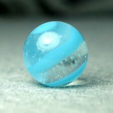 Vintage Marble: NM+ 5/8 Akro Agate Blue Onyx Snake Corkscrew- One Killer Old Mib
