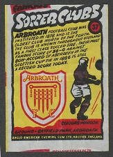 Anglo-American Gum Bell Boy wax wrapper Famous Soccer Clubs #37 Arbroath