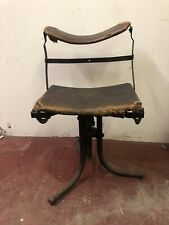 More details for vintage industrial factory machinist engineers stool seat chair maker