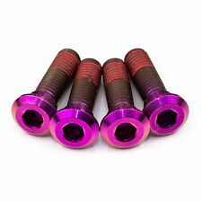 4x Kawasaki Ninja ZX10R 08-10 Purple Titanium Rear Disc Rotor Bolts Threadlock