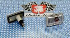 2x BLINKLEUCHTE BLINKER LEUCHTE SEITLICH CHROM GLASKLAR AUDI PORSCHE VW