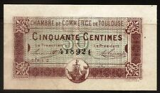 Billet 50 Centimes. Chambre de Commerce de Toulouse. France, 1917. TTB