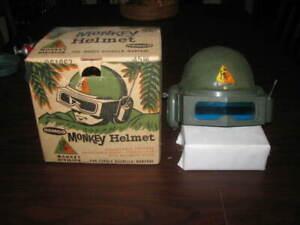 Vintage 1963 Remco Monkey Division Tank Commander MONKEY HELMET with BOX