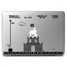 "Super Mario Bros Flag Vinyl Sticker Skin for Apple Macbook Air & Pro 13"" 15"" 17"""