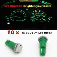10 Green Bright 12v Led Wedge Instrument Panel Light Bulb Lamp 37 73 74 For Ford