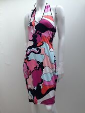 Analili sz L USA Made Slinky Stretch Halter Dress AS NEW