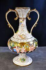 Capodimonte Cherub Vase (OBE)