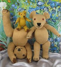 PRINTED INSTRUCTIONS-TEDDY BEAR FAMILY - ANIMAL TOY SOFTIE KNITTING PATTERN