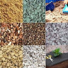 25kg Decorative Aggregate Gravel Slate Chippings Weed Fabric Path Bedding Sand