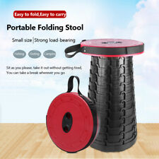 Retractable Plastic Portable Folding Stool Seat Camping Fishing Chair Outdoor UK