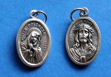 "Mater Dolorosa - Sorrowful Mother / Ecce Homo  Oxidized Medal (7/8"" x5/8"")"
