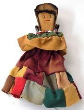 Small Vintage Hand Made Folk Art Clothespin Doll Seminole Style