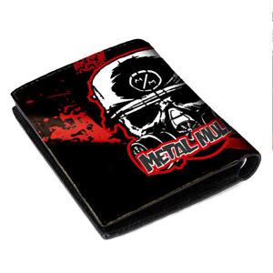 New metal mulisha Wallet Black Leather Card Money Holder