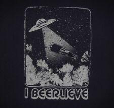 BEER - I BEERLIEVE - Men's size L - Graphic T-Shirt