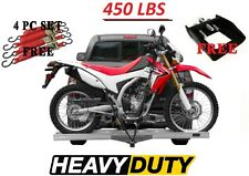 450 Lbs Motorcycles Dirt Bike Hitch Carrier SUV RV Vans Trucks Rack Free Straps
