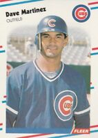 FREE SHIPPING-MINT-1988 Fleer Chicago Cubs Baseball Card #424 Dave Martinez-3