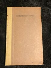 Shakespeare's songs limited edition of 400 Shakespeare Head Press 1920