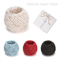 Decoration Craft Natural Paper Rope Rustic Wrap Candy Bag Tags Gift Box String