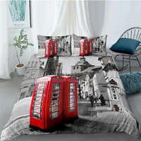 Great New York Street Style 3D Quilt Duvet Doona Cover Set Pillow case Print