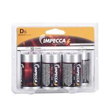 IMPECCA Alkaline D LR20 Platinum Batteries 6-Pack