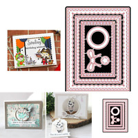 Metal Cutting Dies Scalloped Rectangle Papers Lawn Stitched Frames Cuts Stencils