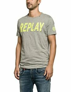 REPLAY t-shirt maglia girocollo colore grey taglia L