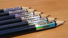 132+28 Free Silver Laser Personalised Pencil Name Label Stickers Dishwasher Safe