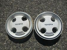 Lot of 2 Toyota Corolla center caps hubcaps for 13 inch steel wheels